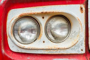 Old car lamps