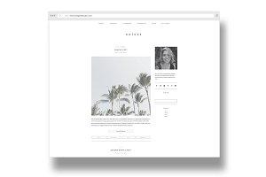 velvet / minimal + modern blog theme