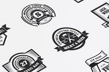 22 Vintage Templates, Badges, Logos