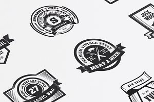 22 Vintage Templates, Badges, Logos