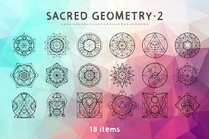 Vector Sacred Geometry Set 2