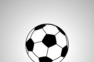 Football ball simple black icon