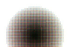 Round halftone screen CMYK pattern