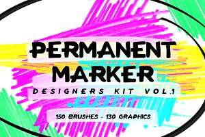 Permanent Marker Designers Kit Vol.1