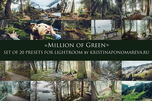 MILLION OF GREEN-Set of 20presets Lr