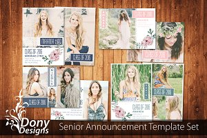 4 Senior Graduation Card Set -SE005