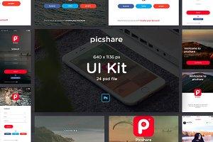 Picshare App UI Kit
