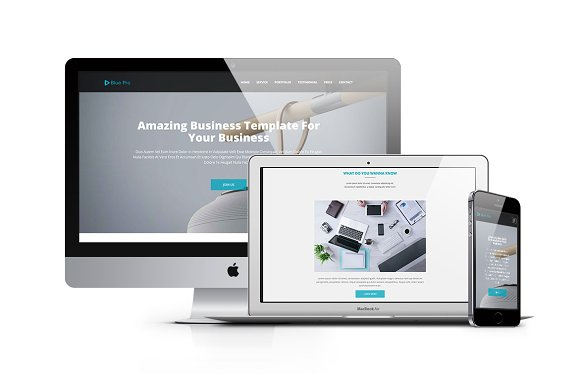 Blue Pro 50% OFF This Month ~ Bootstrap Themes ~ Creative Market