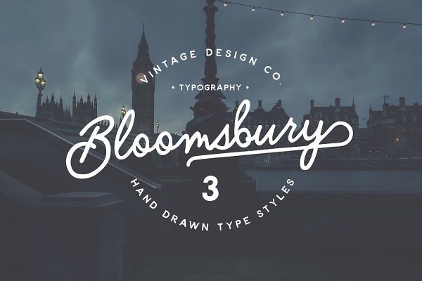 Bloomsbury - Script, Sans & Serif