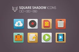 Square Shadow Icons