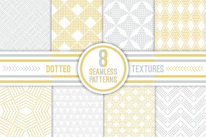Modern dotted seamless backgrounds