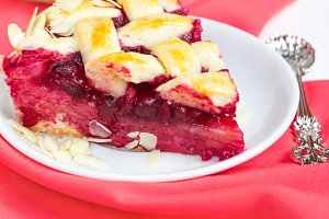 Cherry pie and cup of tea Hibiscus