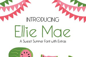 Ellie Mae | A Sweet Summer Font