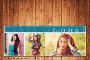 Senior Facebook Cover Template FC347