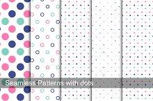 Color dotted memphis patterns.