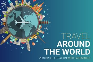 Travel Around the World Card