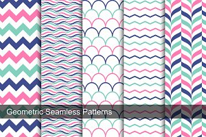 Color geometric patterns - seamless.