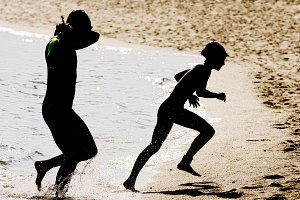 triathletes silhouettes