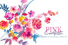 PINK Confetti - Watercolor Floral