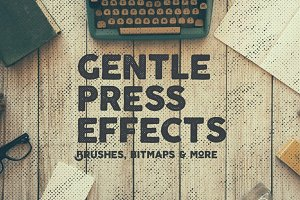 10 Gentle Vintage Press Effects