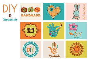 Craft & DIY set of banners
