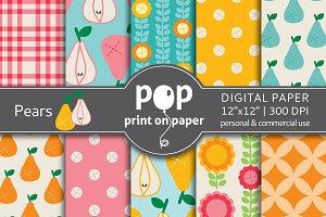 Pears - jpg digital paper