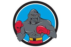 Gorilla Boxer Boxing Stance Circle