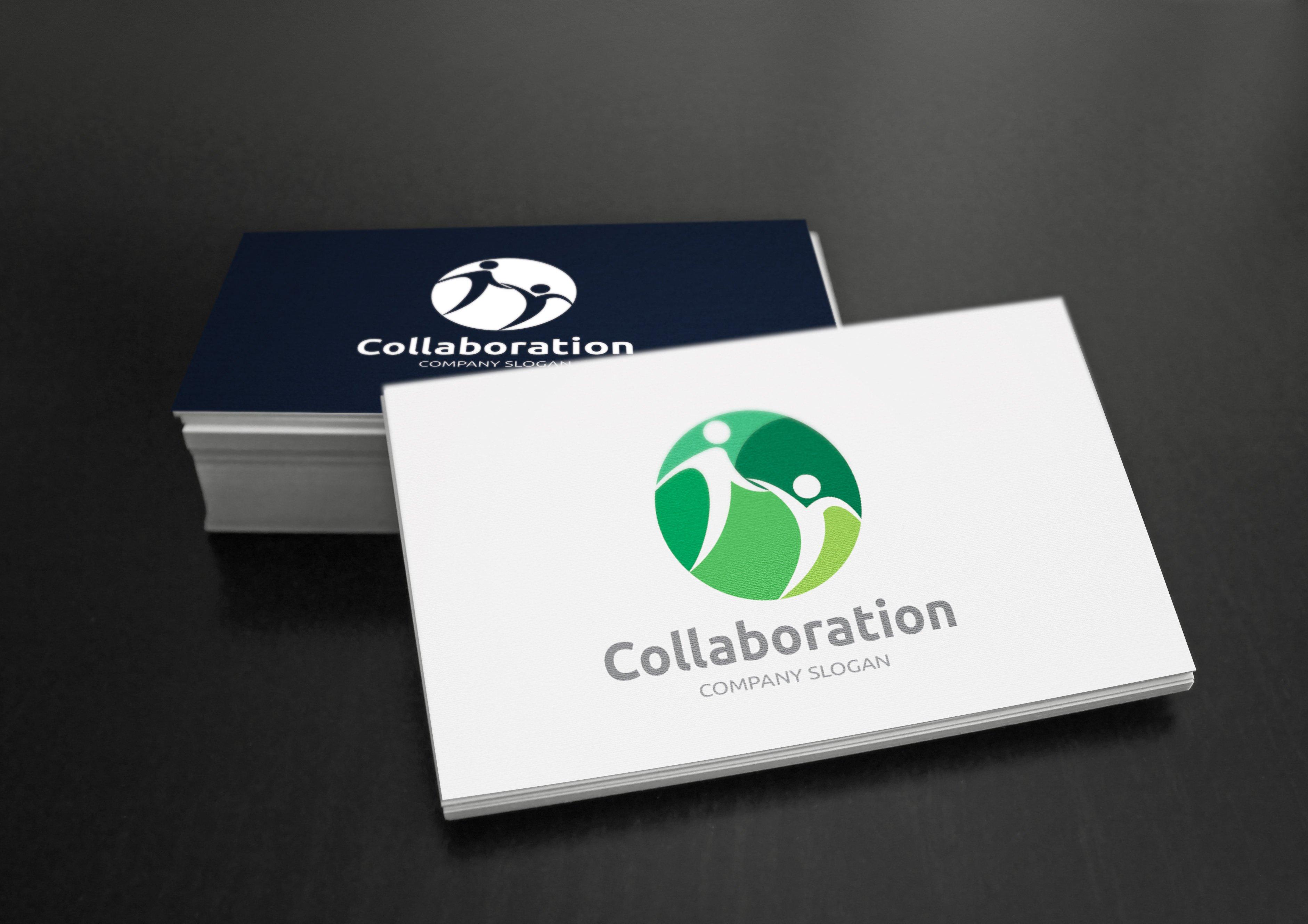 collaboration logo logo templates creative market. Black Bedroom Furniture Sets. Home Design Ideas
