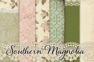 Shabby Chic Magnolias Paper Pack