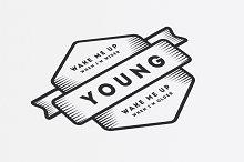18 Vintage Templates, Badges, Logos