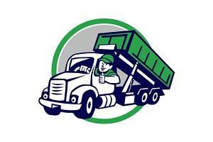 Roll-Off Bin Truck Driver Thumbs Up