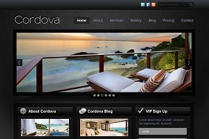 Cordova -  PSD Website Template