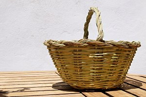 cane basket full sun