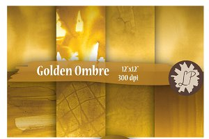Gold Ombre Printable Papers