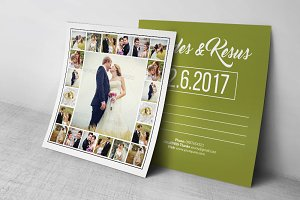 Wedding Postcard Template