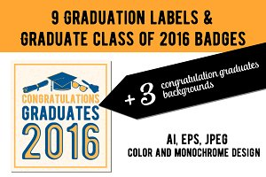 Graduation labels & background