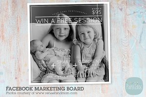 IB005 Facebook Promo Marketing Board