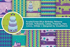 Birthday Party Digital Paper Pattern