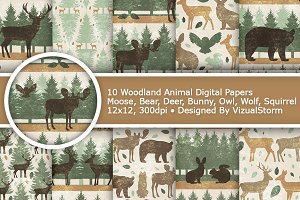 Woodland Animal Paper Patterns