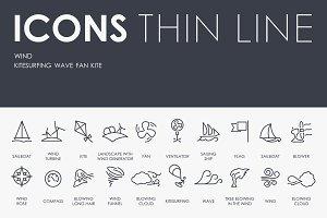 Wind thinline icons