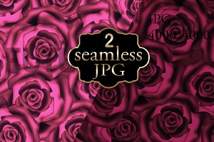 Seamless pattern of dark red roses.