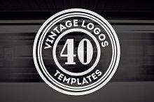40 Vintage Logos & Badges V12