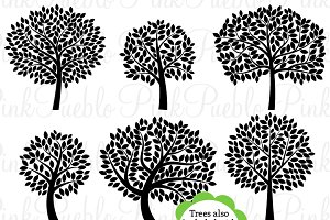 Tree Silhouettes Clip Art & Vectors