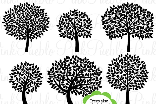 Tree Silhouettes Clip Art & Vectors