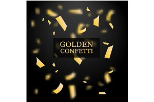 Golden Confetti Illustration