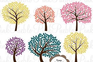 Tree Silhouettes Photoshop Brushes 2