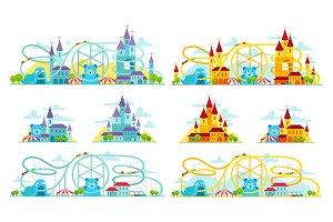 Magic castle roller coaster