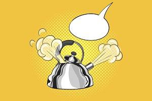 Pop art kettle