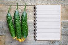 Cucumbers and recipe book