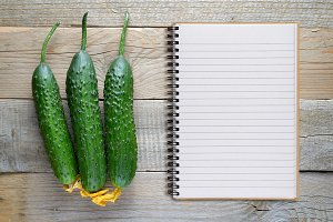 Cucumbers and recipe book